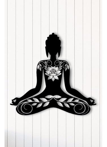Angemiel Home Yoga Meditasyon Metal Duvar Tablosu Siyah